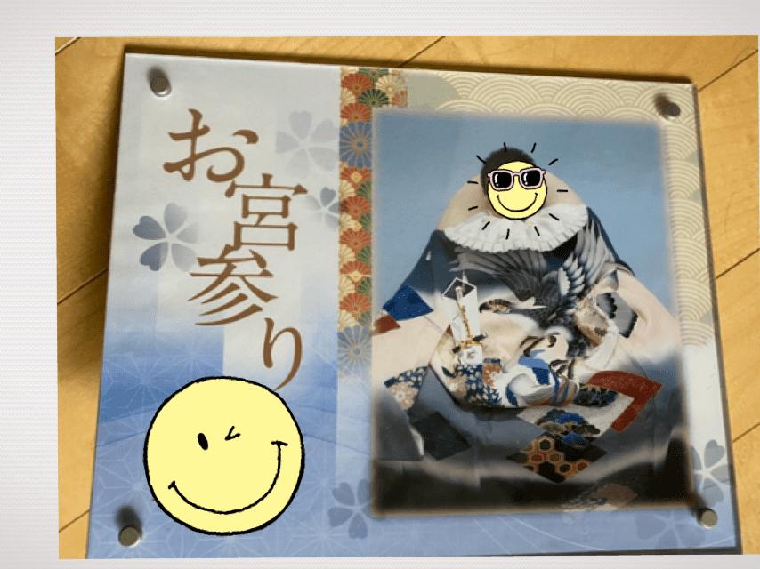 スタジオマリオ お宮参り クリスタルプレート