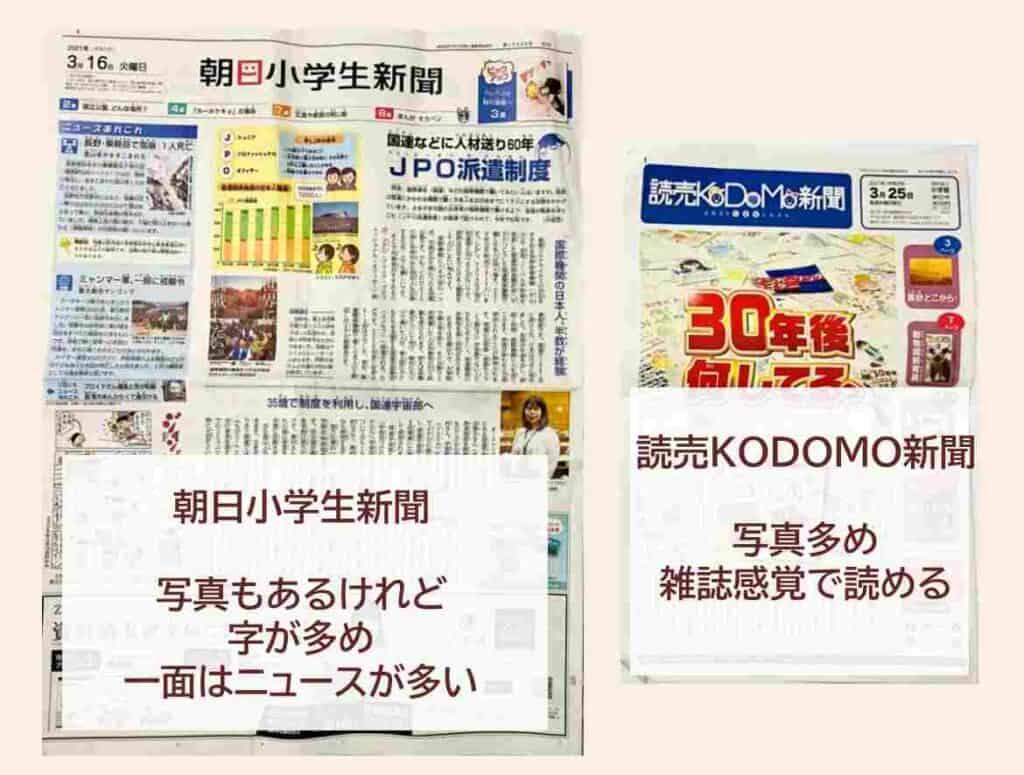 朝日小学生新聞デメリット