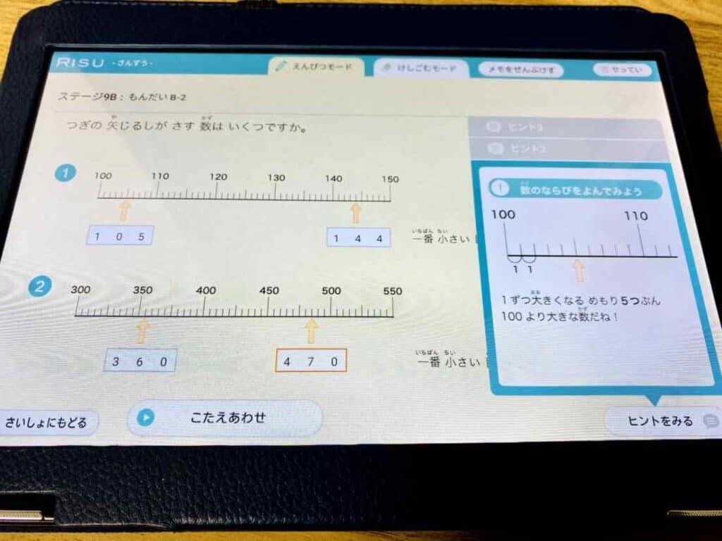 RISU算数の数直線